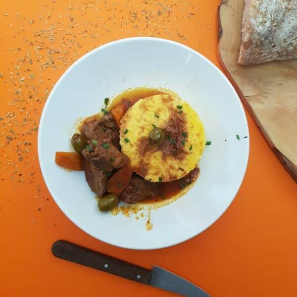 La Popote Du Jour-Bœuf provençal-polenta crémeuse-Cuisine Fraiche Livree chez vous a Condrieu