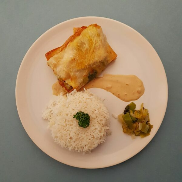 La-Popotte-du-jour- Croustillant de poisson emince de poireaux (1