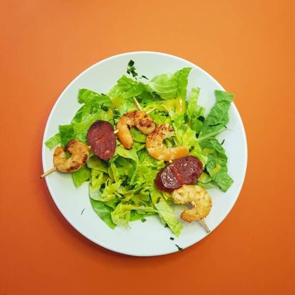 La popotte du Jour- Brochettes de crevettes chorizo (2)