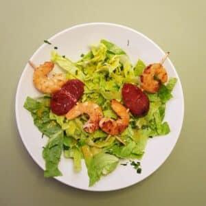 La popotte du Jour- Brochettes de crevettes chorizo (3)