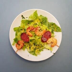 La popotte du Jour- Brochettes de crevettes chorizo (4)